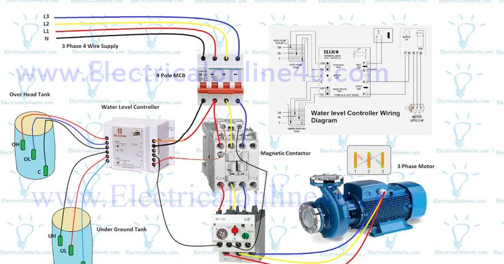 Automatic Water Level Controller Wiring Diagram For 3 ...
