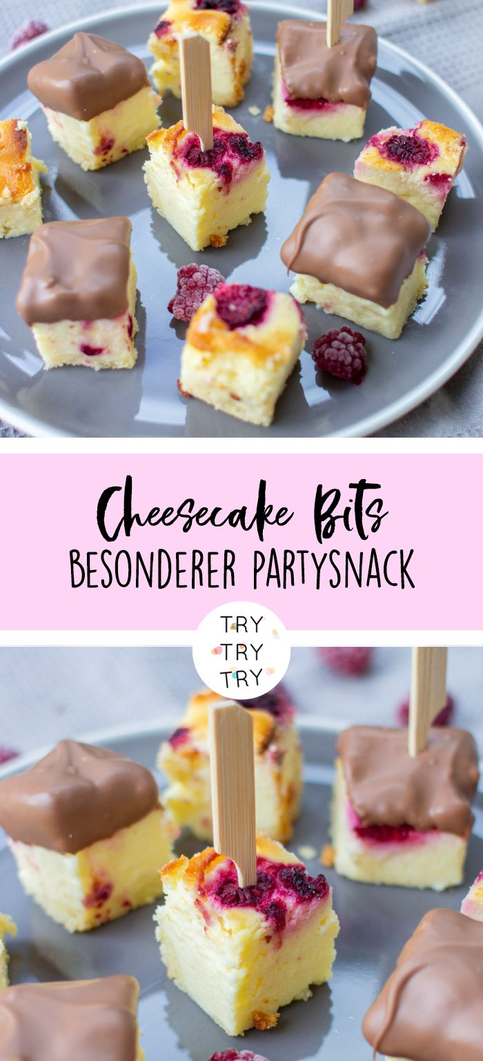 Cheesecake-Bits – der perfekte Kuchen Party Snack