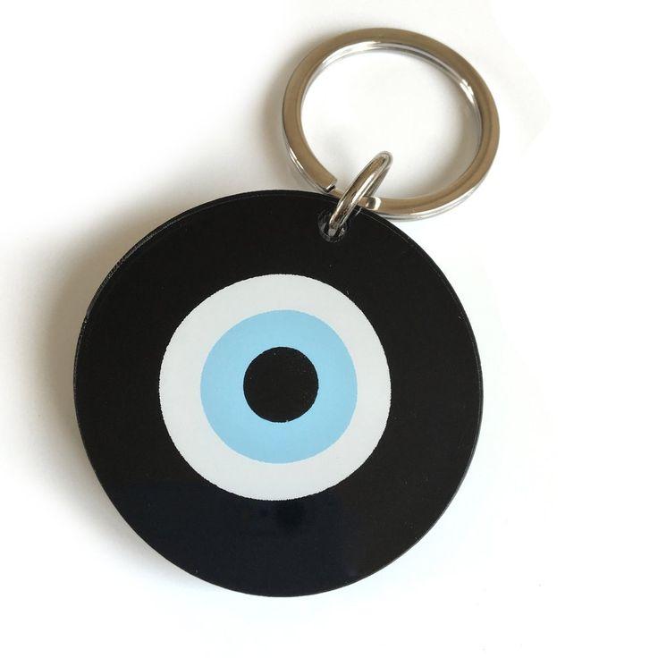 Black Evil Eye Key Ring