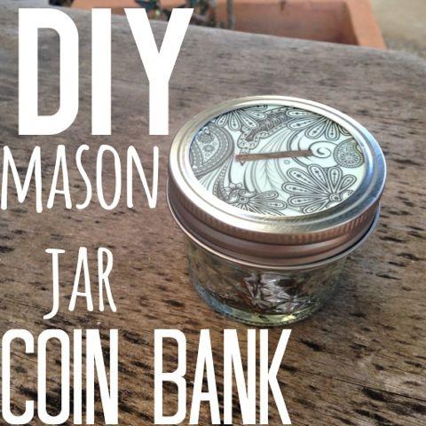 Calizfornia: Mason Jar Coin Bank
