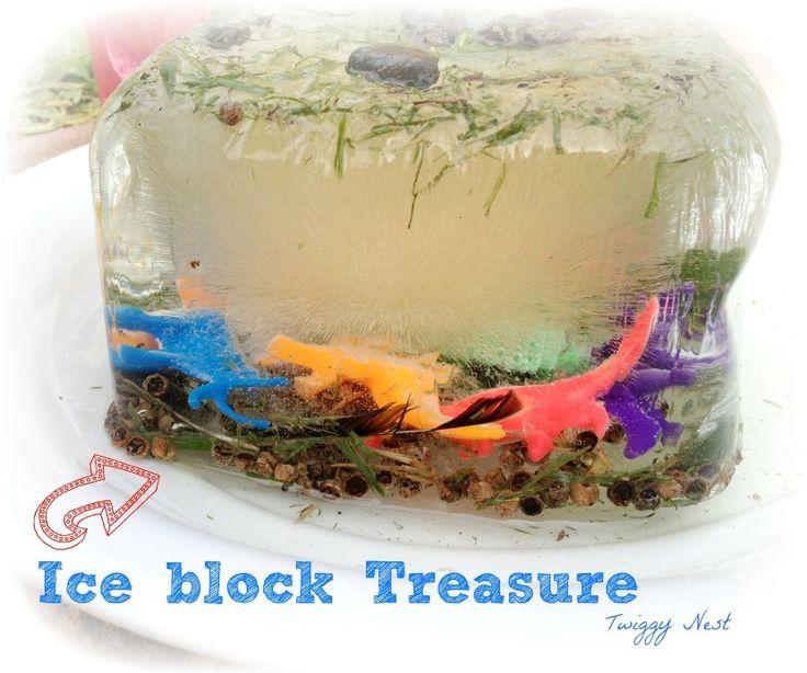 Frozen Ice block Treasure Activity http://twiggynest.wordpress.com/2014/01/06/iceblock-treasure-activity/
