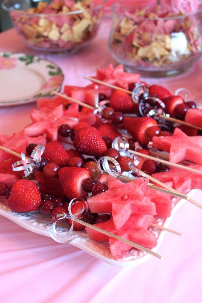 Magic wand fruit kabobs! Love! --Pink Princess Party from thediva-dish.com