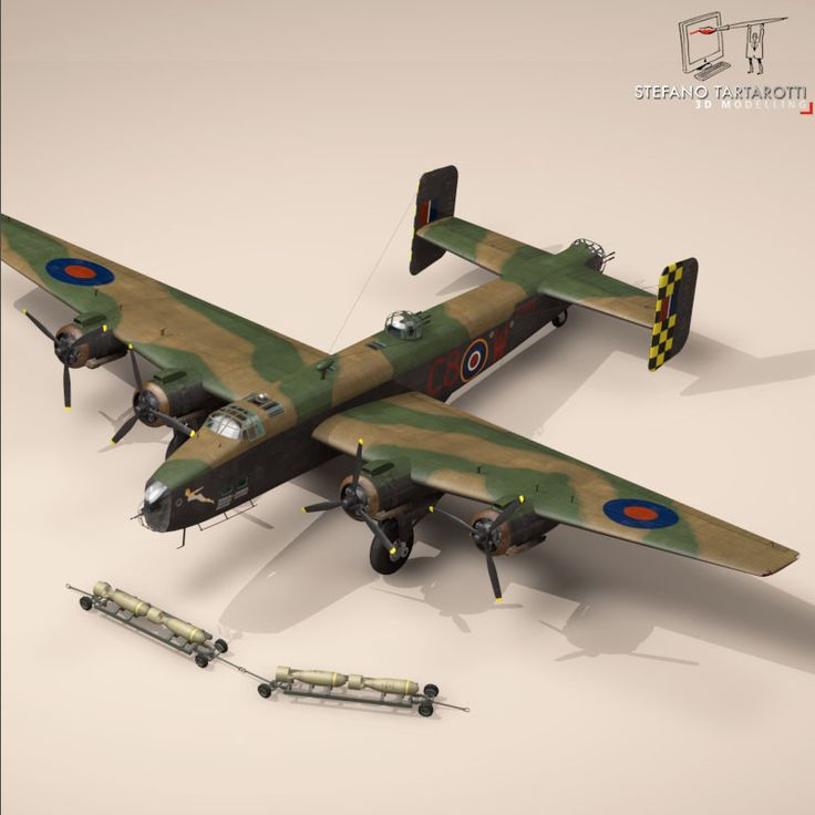 handley page halifax bombers 3ds