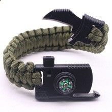 [Outdoor Sports] Outdoor Paracord Survival Bracelet With Compass
