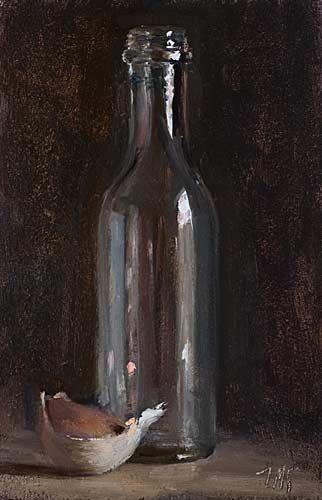 ☆ Bottle and Garlic Clove :→: Artist Julian Merrow-Smith ☆