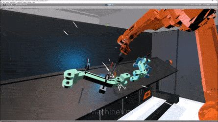 Robotic welding using VR. AKA the future.