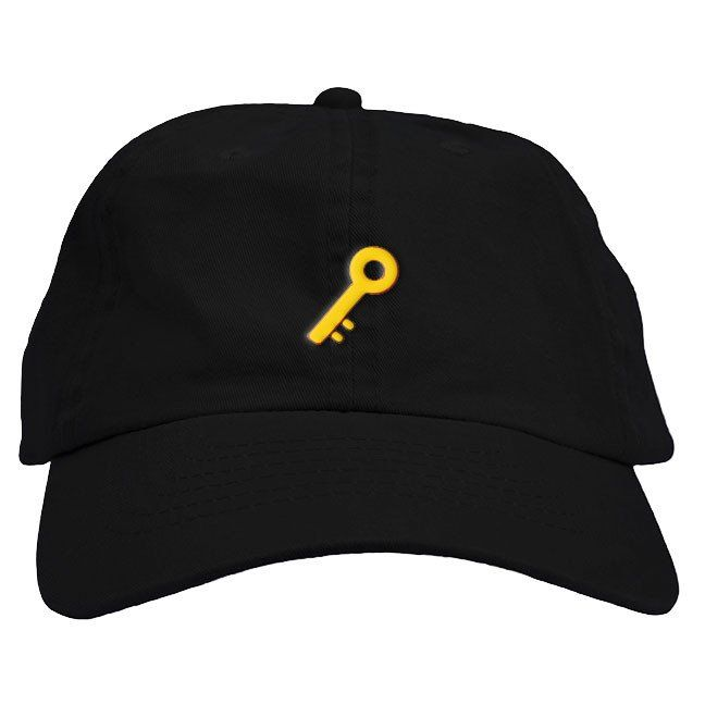 Our ultra comfortable dad hats have a relaxed fit, curved bill and embroidered Key Emojion the front. The adjustable strapback...