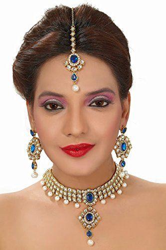 Indian Bollywood Blue Stone Kundan Pearls Gold Plated Wed... https://www.amazon.com/dp/B01N9UNCZ2/ref=cm_sw_r_pi_dp_x_RbEHyb7KGMV8A