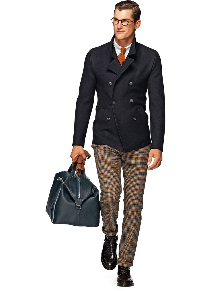 Jacket Navy Plain Leager - Suitsupply