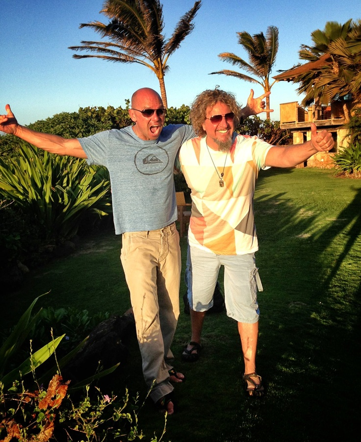 Kenny Chesney and Sammy Hagar in Maui right now....Mahalo