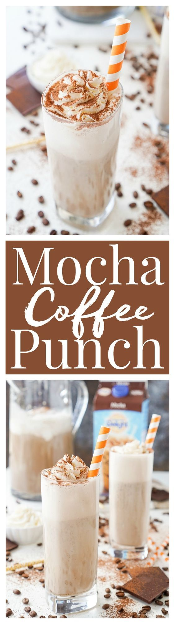 This Mocha Coffee Punch is bound to be a new party favorite by hosts and guests alike! It's easy to make and tastes amazingly creamy and delicious! Made with mocha iced coffee, sugar, milk, and vanilla ice cream, you'll love the fresh new take on the traditional party punch! #idelight @indelight