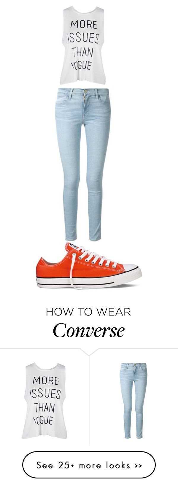 """""""Untitled #65"""" by queendee12 on Polyvore featuring Frame Denim and Converse"""