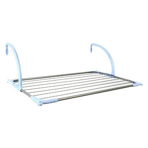 Portable Handrails Outdoors : Portable over the railing handrail clothes drying rack