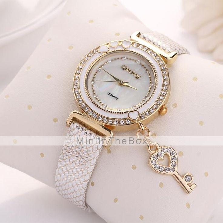 EUR € 6.71 - amore delle donne le principali orologi da polso quadrante diamante gridding quarzo in pelle (colori assortiti) c&D161, Gadget a Spedizione Gratuita da MiniInTheBox!