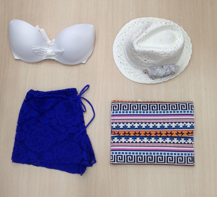 Beach style by Miss Accessories  #blue