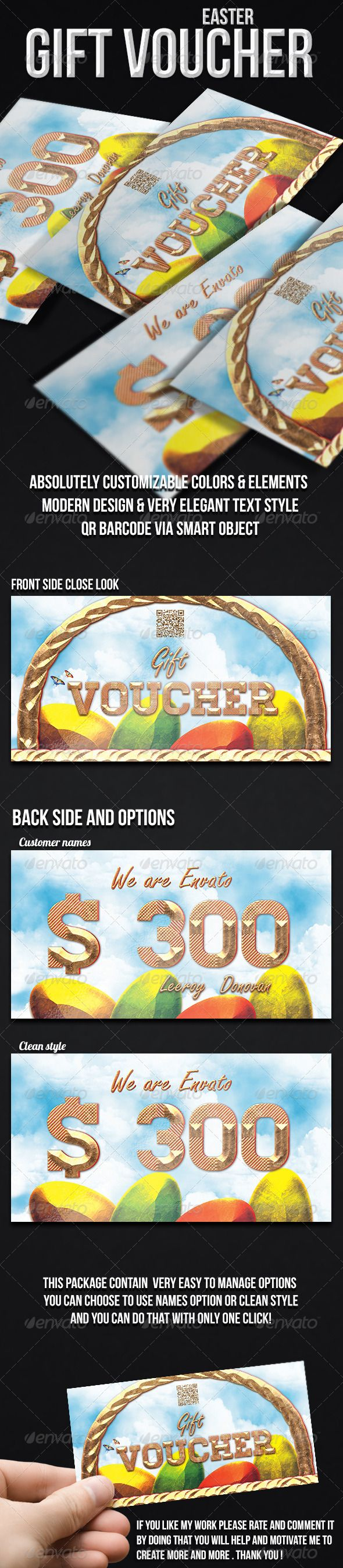 53 best gift voucher images on pinterest xmas gifts gift cards easter gift voucher negle Choice Image