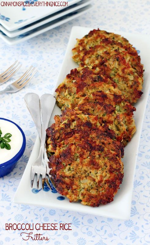 Broccoli, Veggies Burgers, Broccoli Chee Rice Fritters, Broccoli ...