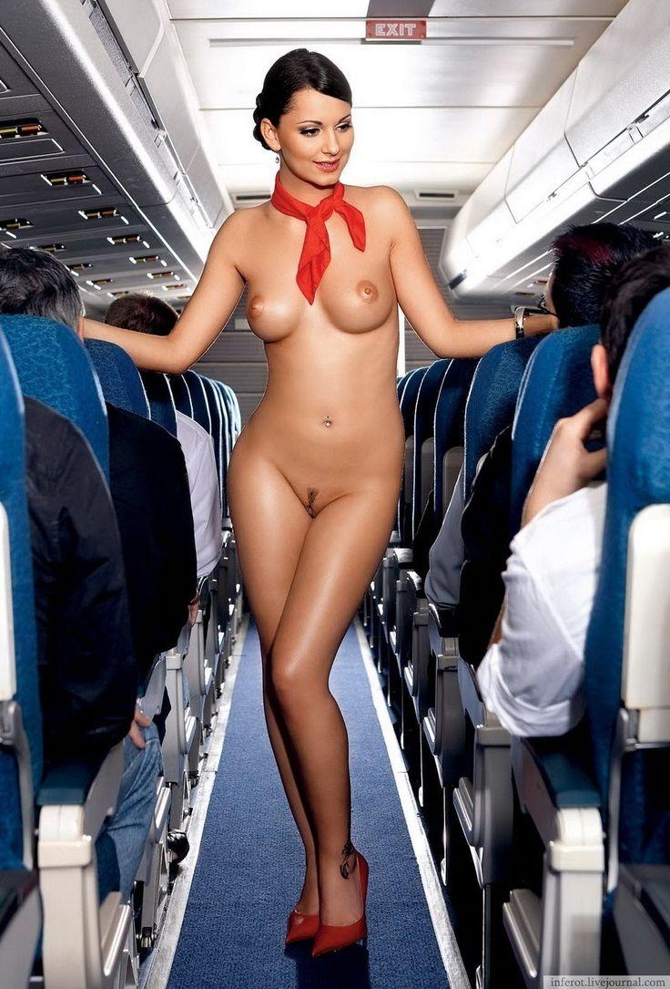 naked girl inside the flight