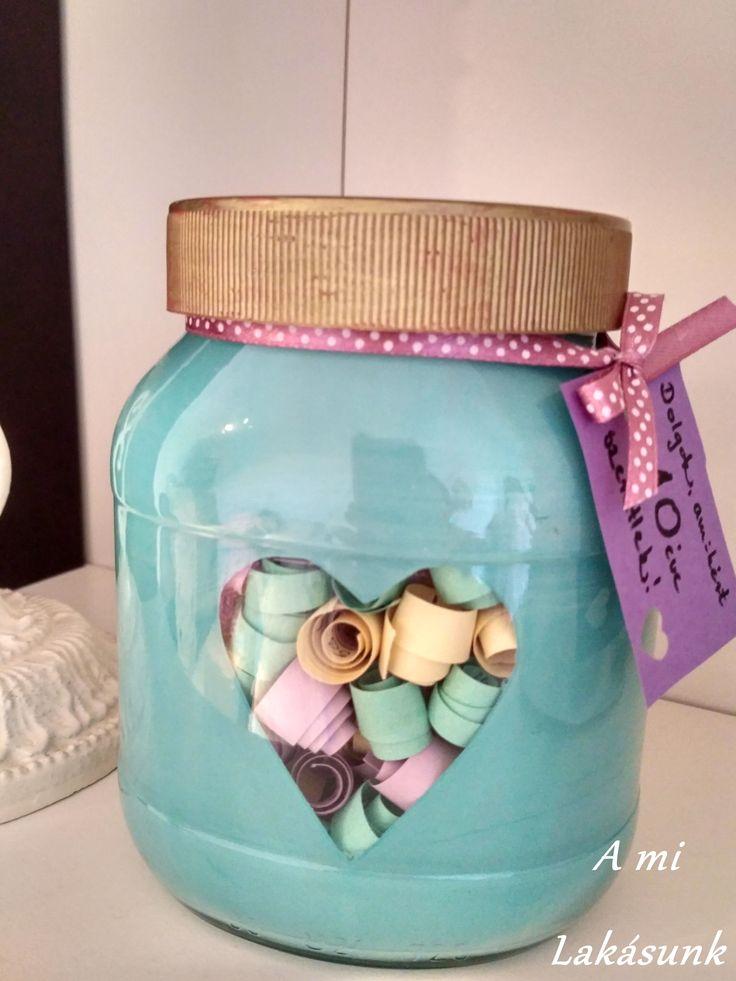 DIY Valentin jar