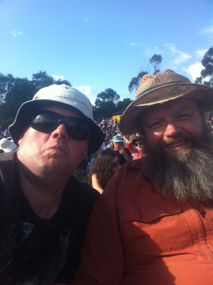 Day on the Green 2012 - me and dad