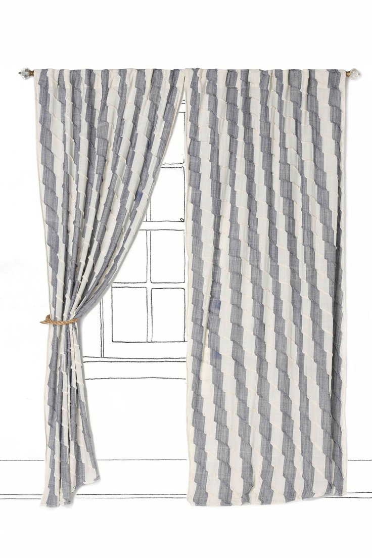 Love The Stripes Chevron Gray White Striped Curtains Branding Business Office
