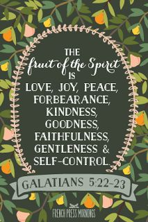 French Press Mornings Print - Galatians 5:22-23 #encouragingwednesdays #fcwednesdaywisdom #quotes