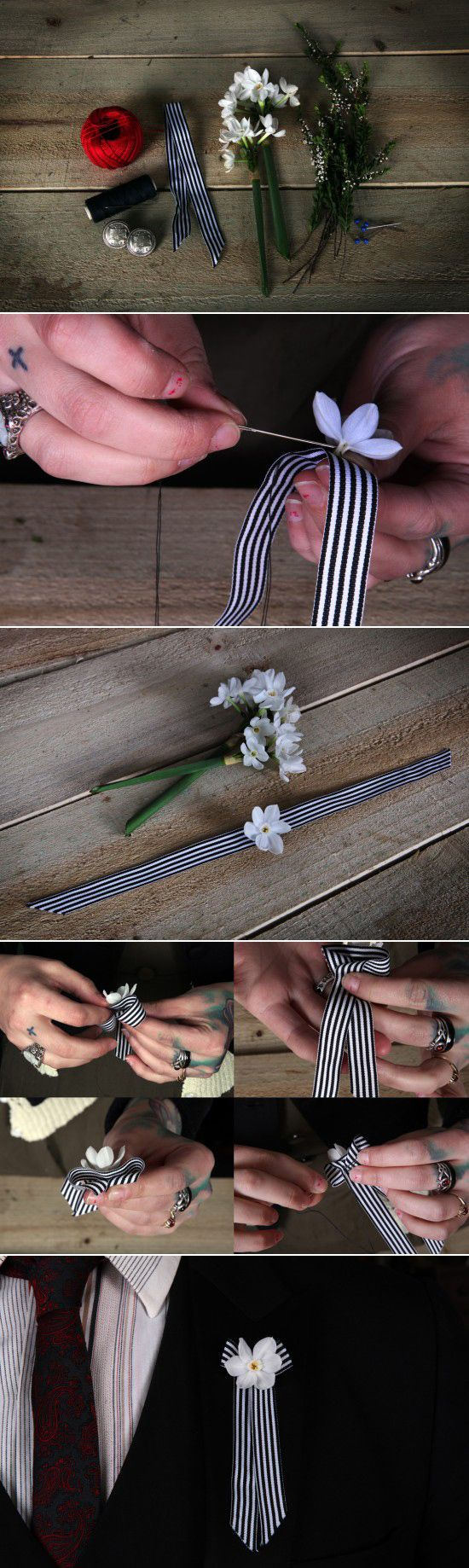 diy buttonholes tutorial ~ by Foxglove Botanicals