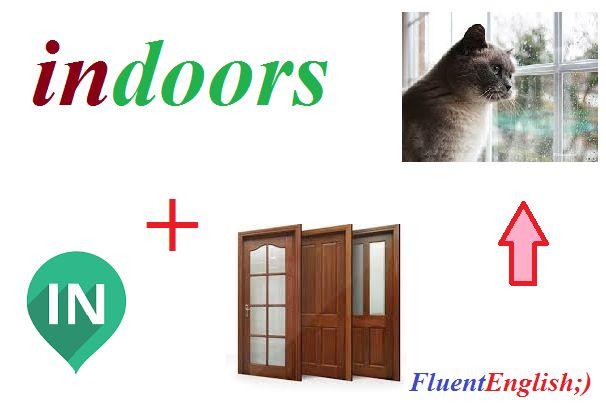 in + doors = indoors! (внутри дома, в помещении)  #английский #английскийвесело #английскийскайп #английскийразговорный#английскийслова #английскийонлайн #английскийчерезскайп#английскийрепетиторы #учитьанглийский #fluentenglish