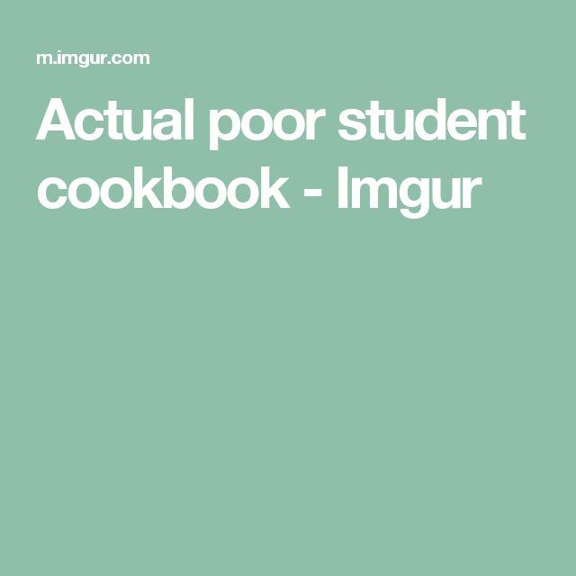 Actual poor student cookbook - Imgur