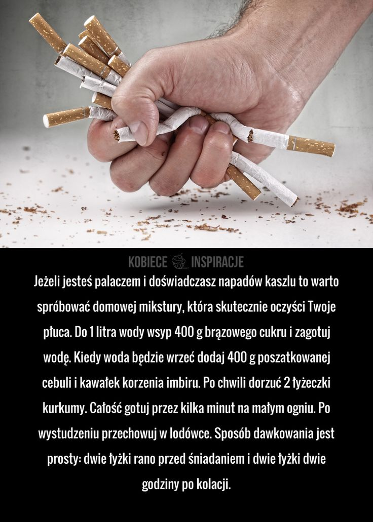 Jeżeli jesteś palaczem i doświadczasz napadów kaszlu to warto spróbować domowej mikstury, która skutecznie oczyści Twoje płuca. Do 1 litra ...