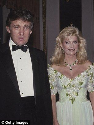 Donald Trump with then wife Ivana Trump in 1987