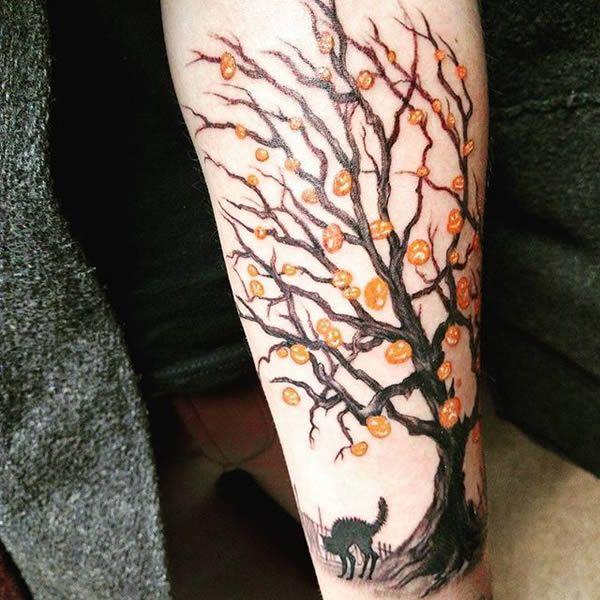 12 Creepy Halloween Tattoos - ODDEE