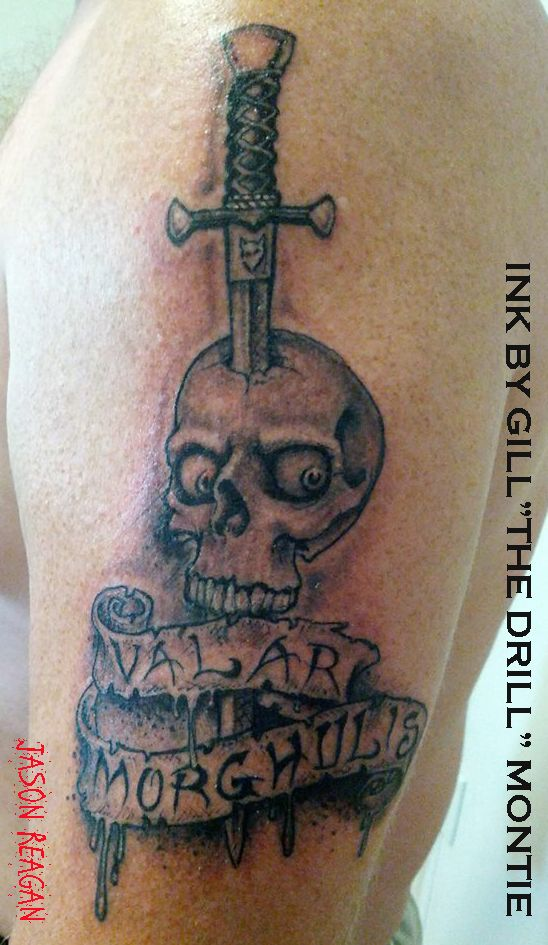 My valar morghulis tattoo a song of ice and fire for Fire and ice tattoo shop