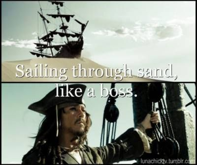Captain Jack Sparrow, the boss.