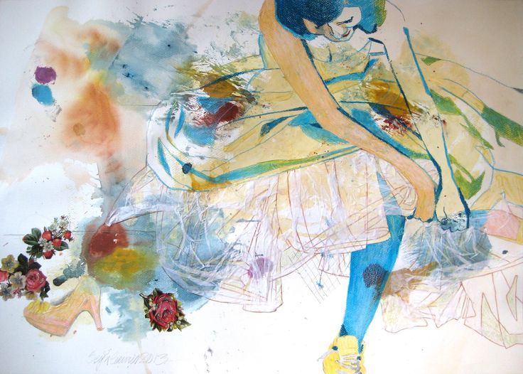 SEIJA SAINIO: Bride, mixed media, 50 x 65 cm, 2013