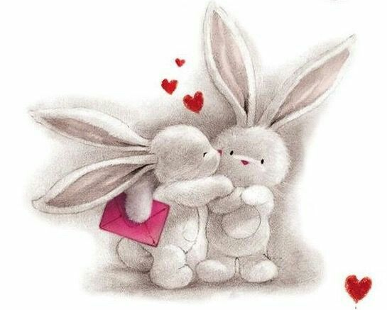 Картинки зайчика влюбленного