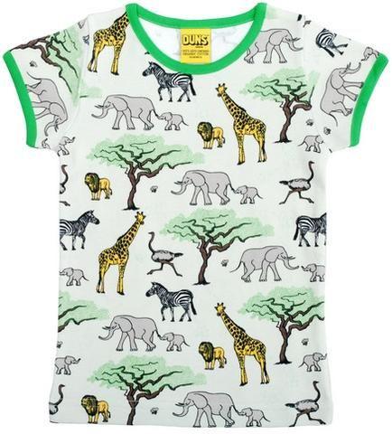 Duns Sweden T-Shirt Africa - Shirt met Olifant, Giraffe en Zebra's
