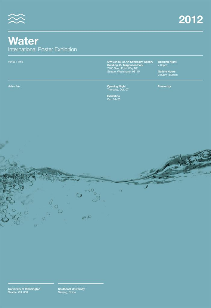 Water poster exhibition
