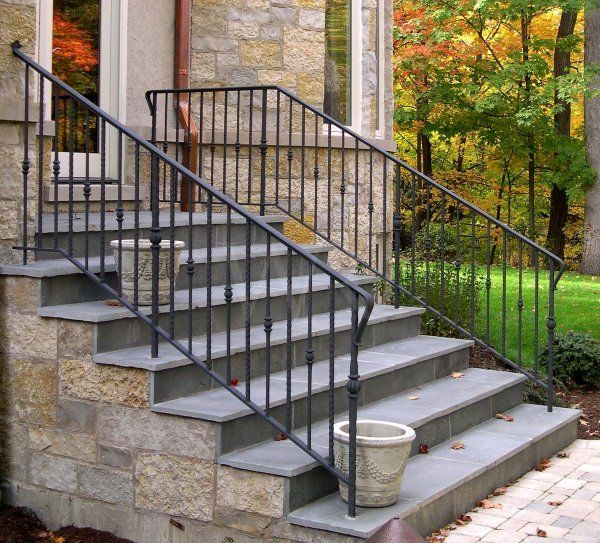 1000 ideas about outdoor stair railing on pinterest - Metal railings for stairs exterior ...