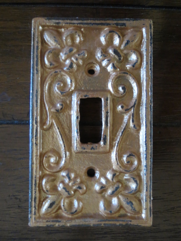Light Switch Cover Light Plate Cover Cast Iron Metal