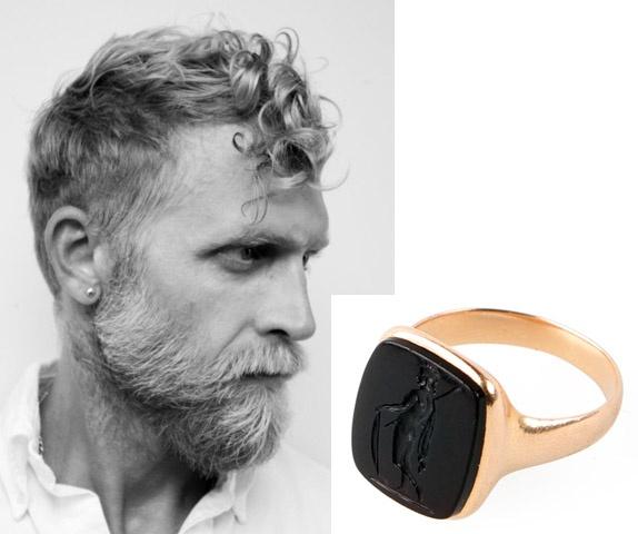 Philip Crangi and a signet Ring