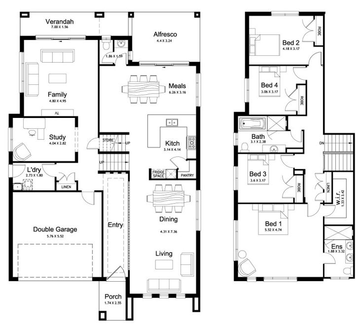 201 best floor plans images on pinterest for Simple split level house plans