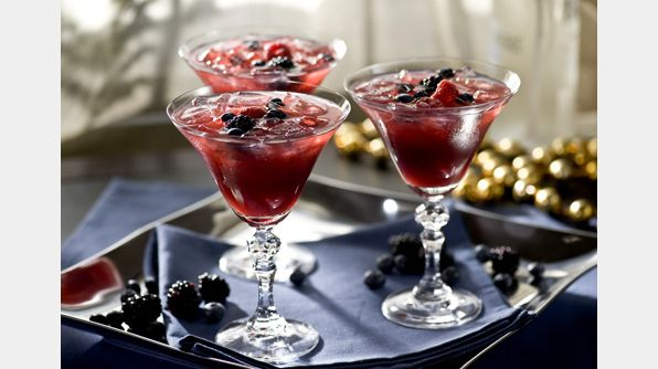 Raise your spirits this Thanksgiving with Mrs. McMullen's Appleberry Pie. We'd happily trade canned cranberry sauce for this cocktail combination of raspberry, blueberry and blackberry.