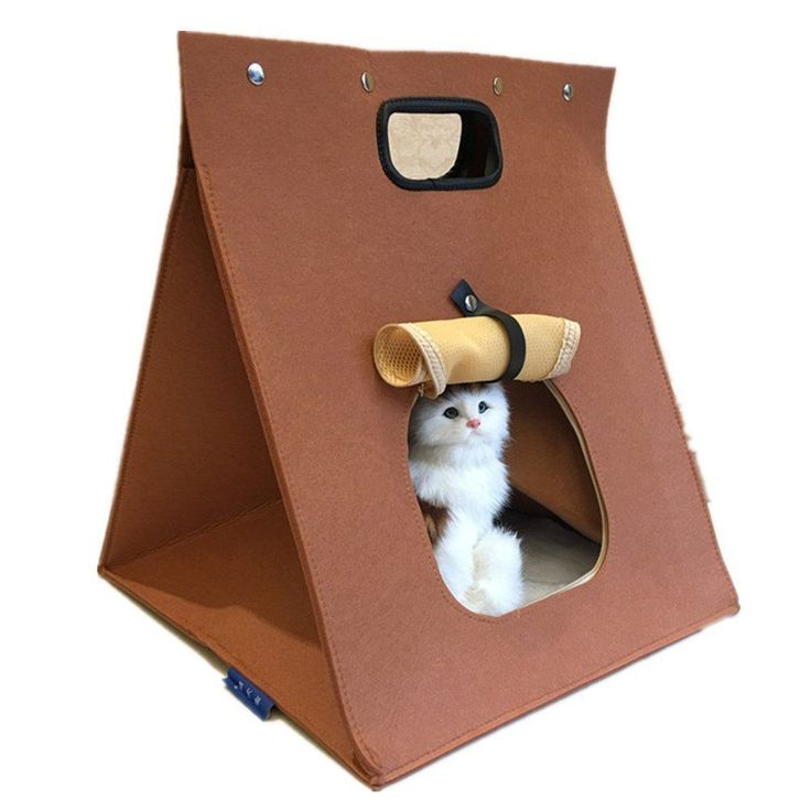 Portablei Cat/Dog Bed Sofa Soft Warm Pet Kitty Puppy Beds Sleeping Bag brown ** Read more info by clicking the link on the image. #CatBedsandBlankets #PuppyBeds