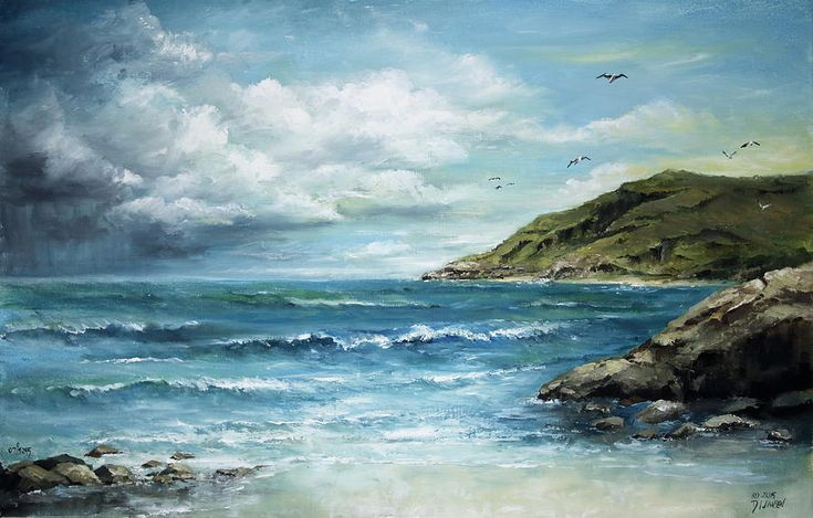 Eastern Inlet Painting by David Jansen