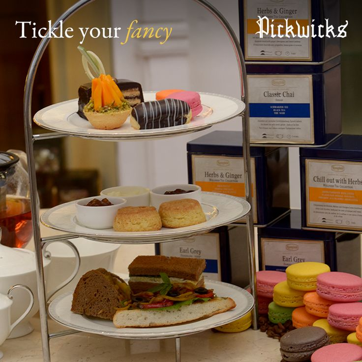Macaroons, cupcakes or savories - Pick what goes best with your favorite cuppa!