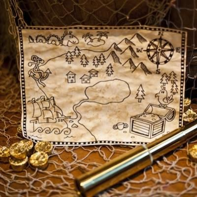 Disney Club Penguin treasure map craft! We'd love to see your versions of this fun activity: http://www.clubpenguin.com/fun-stuff/arts-crafts/treasure-map-0