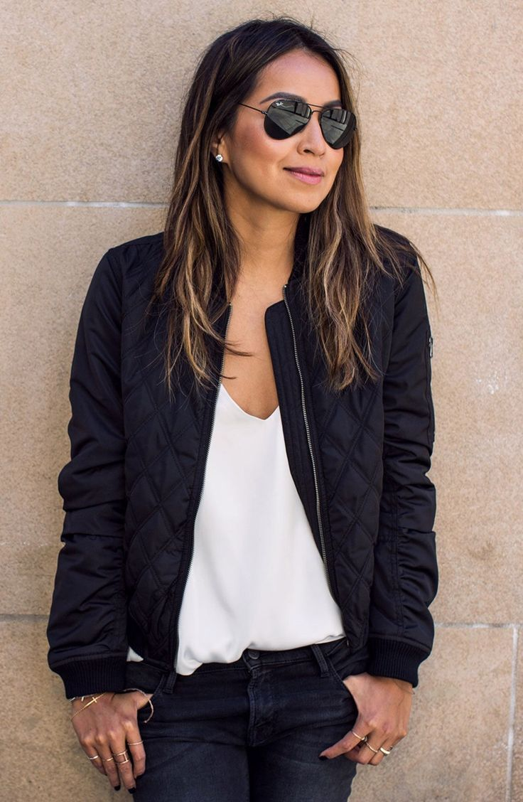 Quilted Bomber Jacket -- ** I don't love the quilted part so much but I'm definitely loving the bomber jacket trend! **