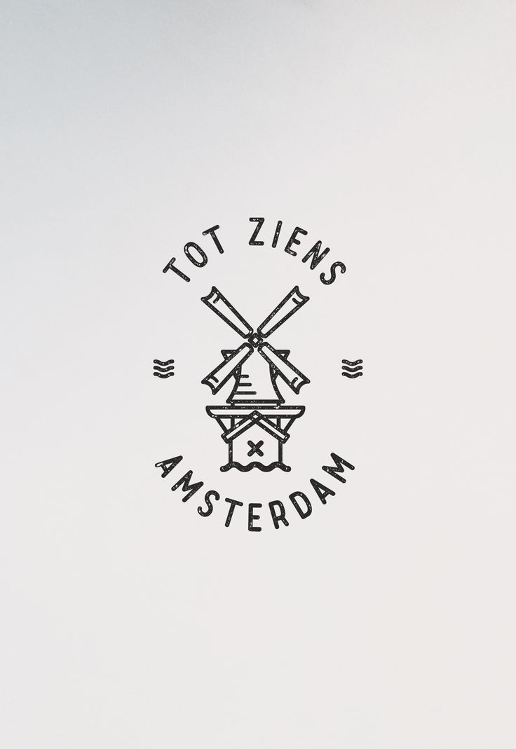 VISLA Graphic - illustration and logo design -- amsterdam windmill