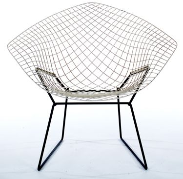 Authentic Knoll Diamond Chair  Description:  1950's Authentic Harry Bertioa for Knoll Chair. Rare Two Tone color Option.